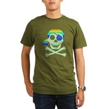 Green Pirate Skull T-Shirt