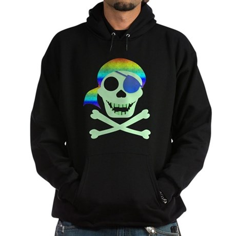 Green Pirate Skull Hoodie (dark)