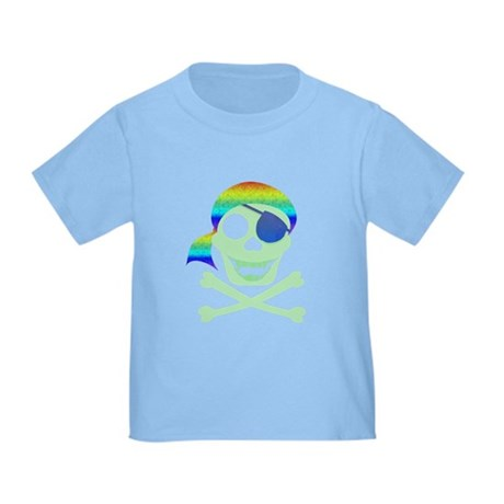 Green Pirate Skull Toddler T-Shirt