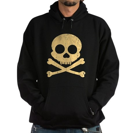 Distressed Orange Skull Hoodie (dark)
