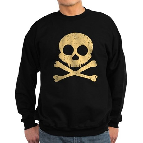 Distressed Orange Skull Sweatshirt (dark)