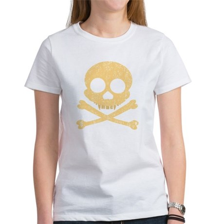 Distressed Orange Skull Women's T-Shirt