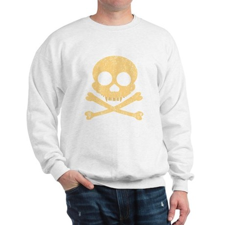 Distressed Orange Skull Sweatshirt