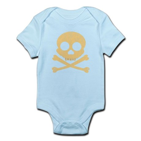 Distressed Orange Skull Infant Bodysuit