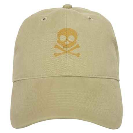 Distressed Orange Skull Cap