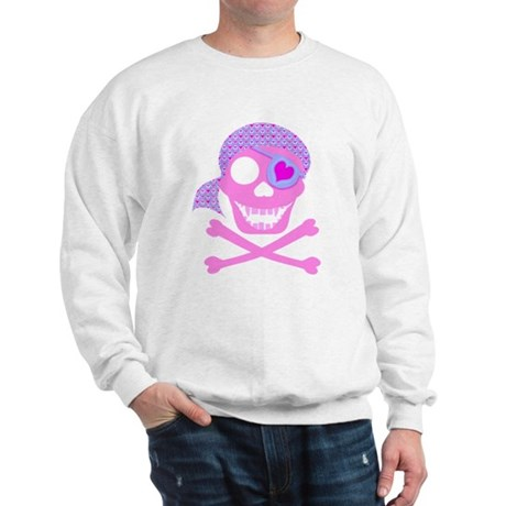 Pink Pirate Skull Sweatshirt