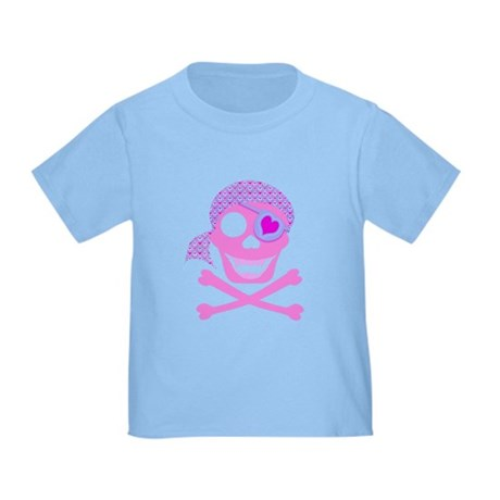 Pink Pirate Skull Toddler T-Shirt