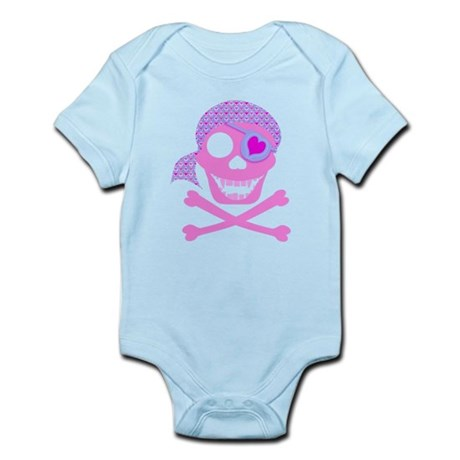 Pink Pirate Skull Infant Bodysuit