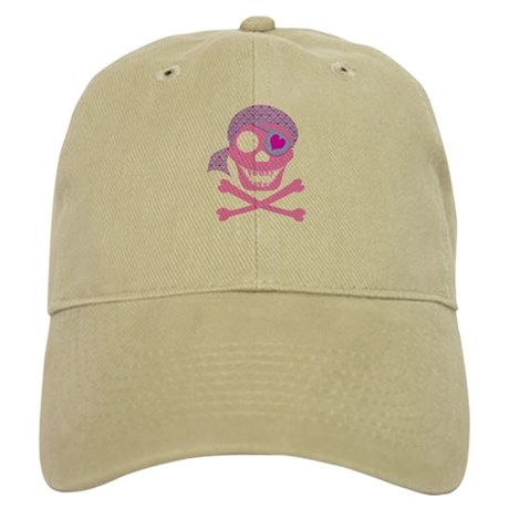 Pink Pirate Skull Cap