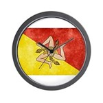 Sicily Flag Wall Clock