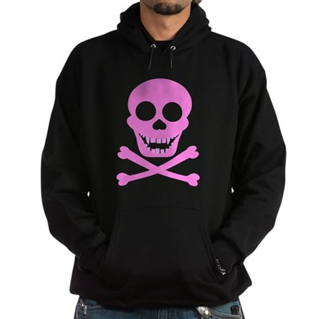 Pink Skull & Crossbones Hoodie (dark)