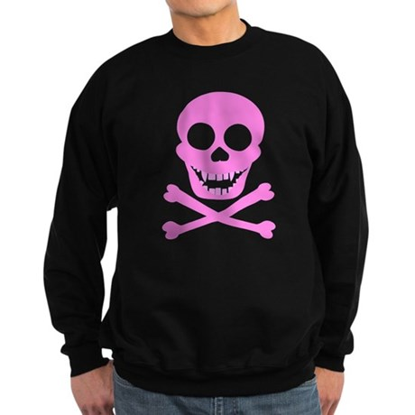 Pink Skull & Crossbones Sweatshirt (dark)