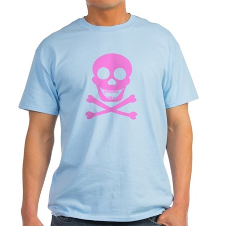 Pink Skull & Crossbones Light T-Shirt
