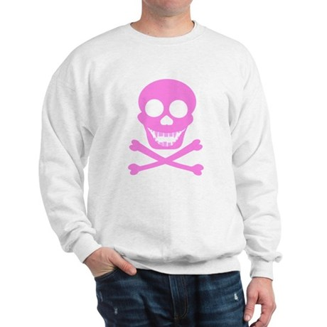 Pink Skull & Crossbones Sweatshirt