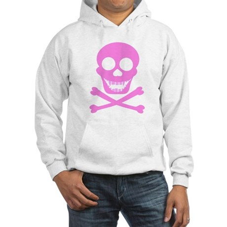 Pink Skull & Crossbones Hooded Sweatshirt