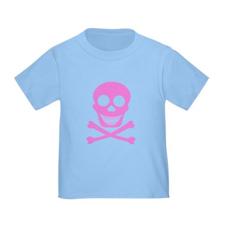 Pink Skull & Crossbones Toddler T-Shirt