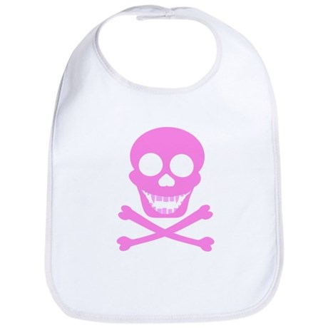 Pink Skull & Crossbones Bib