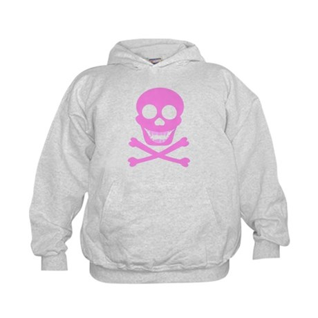Pink Skull & Crossbones Kids Hoodie