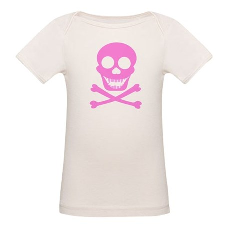 Pink Skull & Crossbones Organic Baby T-Shirt
