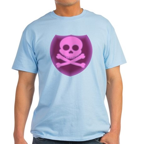 Pink Skull Badge Light T-Shirt