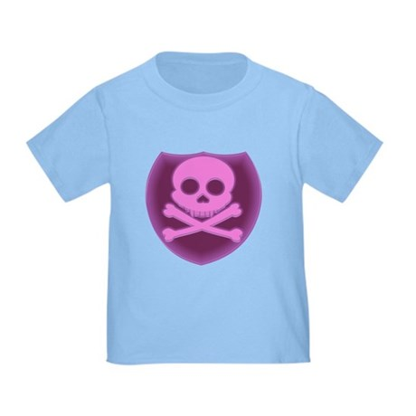 Pink Skull Badge Toddler T-Shirt