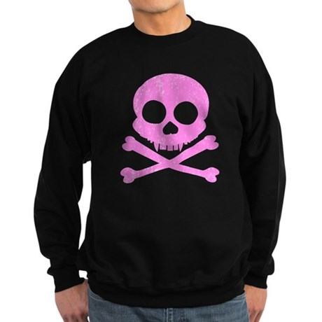 Distressed Pink Skull Sweatshirt (dark)