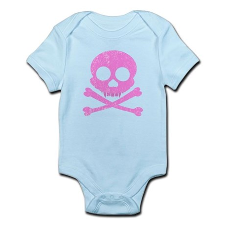 Distressed Pink Skull Infant Bodysuit