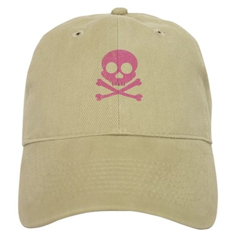 Distressed Pink Skull Cap