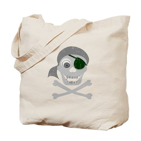 Pirate Skull & Crossbones Tote Bag