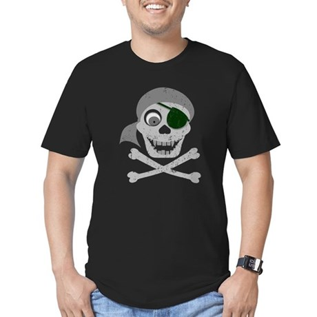 Pirate Skull & Crossbones Men's Fitted T-Shirt (da