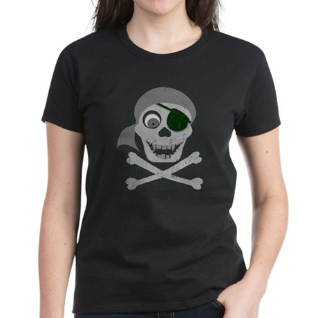 Pirate Skull & Crossbones Women's Dark T-Shirt