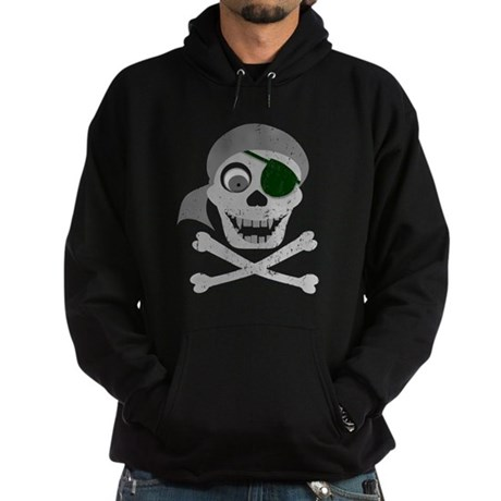 Pirate Skull & Crossbones Hoodie (dark)