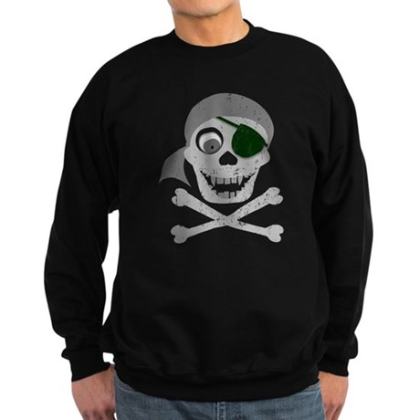 Pirate Skull & Crossbones Sweatshirt (dark)