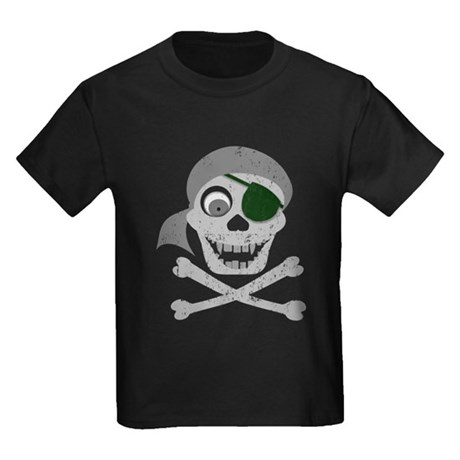 Pirate Skull & Crossbones Kids Dark T-Shirt