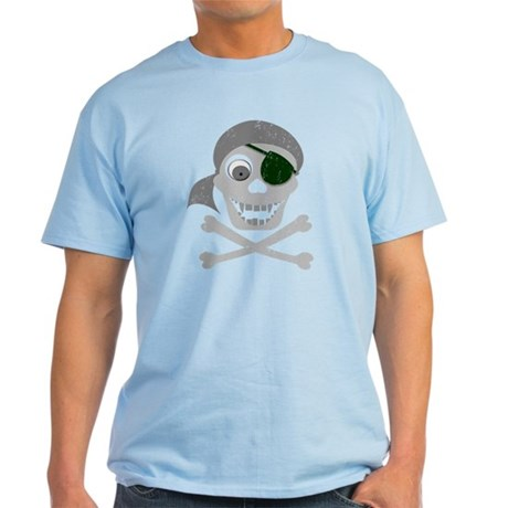 Pirate Skull & Crossbones Light T-Shirt
