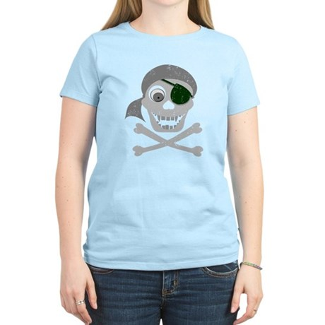 Pirate Skull & Crossbones Women's Light T-Shirt
