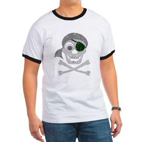 Pirate Skull & Crossbones Ringer T