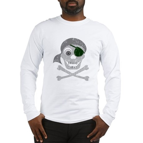 Pirate Skull & Crossbones Long Sleeve T-Shirt