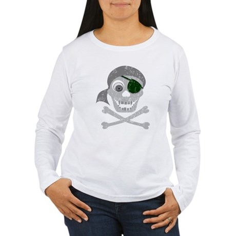 Pirate Skull & Crossbones Women's Long Sleeve T-Sh