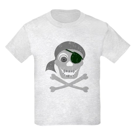 Pirate Skull & Crossbones Kids Light T-Shirt