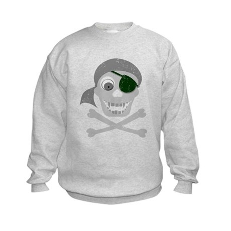 Pirate Skull & Crossbones Kids Sweatshirt