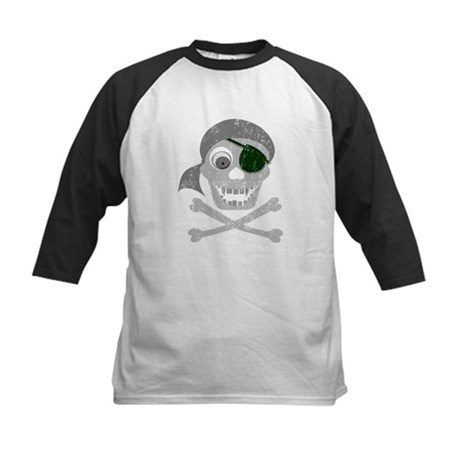 Pirate Skull & Crossbones Kids Baseball Jersey