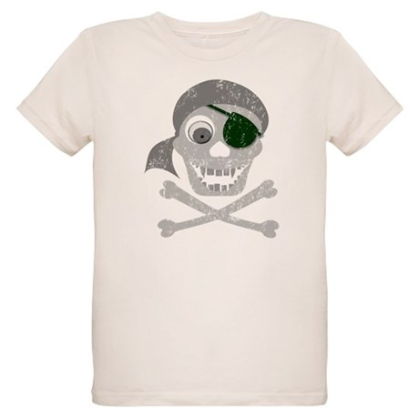 Pirate Skull & Crossbones Organic Kids T-Shirt