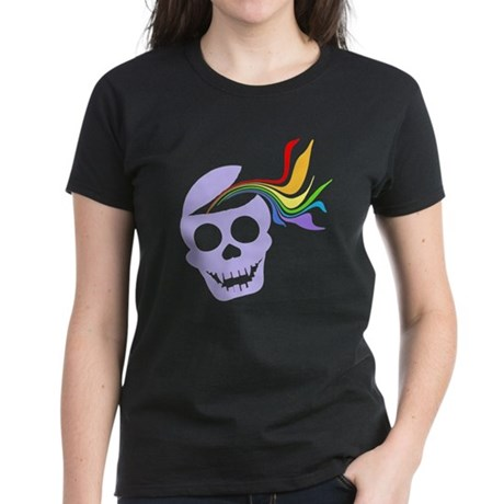 Rainbow Lavender Skull Women's Dark T-Shirt