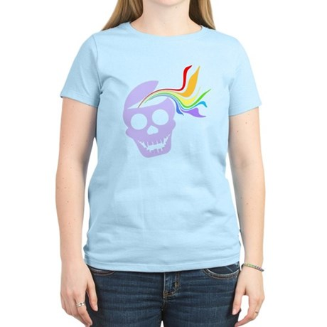 Rainbow Lavender Skull Women's Light T-Shirt