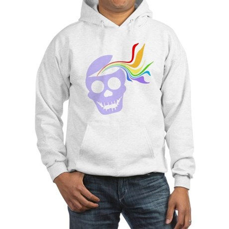 Rainbow Lavender Skull Hooded Sweatshirt