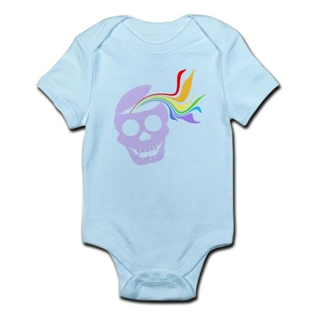 Rainbow Lavender Skull Infant Bodysuit