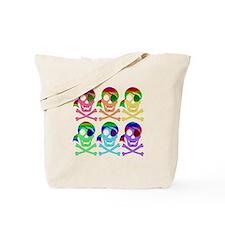 Rainbow Pirate Skulls Tote Bag
