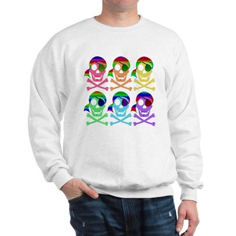 Rainbow Pirate Skulls Sweatshirt