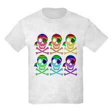 Rainbow Pirate Skulls T-Shirt